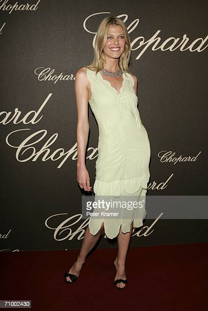 Belgian model Ingrid Seynhaeve attends the 'Chopard Party' party at the Carlton Hotel during the 59th International Cannes Film Festival May 20 2006...