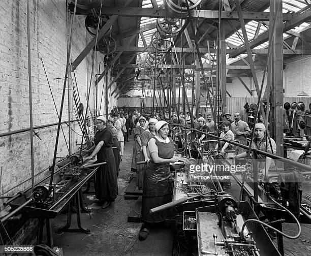 Belgian Munition Works Clevedon Road Barnes Richmond London September 1918 An interior view of a workshop in the Belgian Munition Works also known as...
