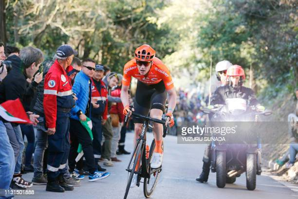 Belgian Nathan Van Hooydonck of CCC Team rides the stage 5 of the Tirreno-Adriatico cycling race, from Colli al Metauro to Recanati , Italy, Sunday...