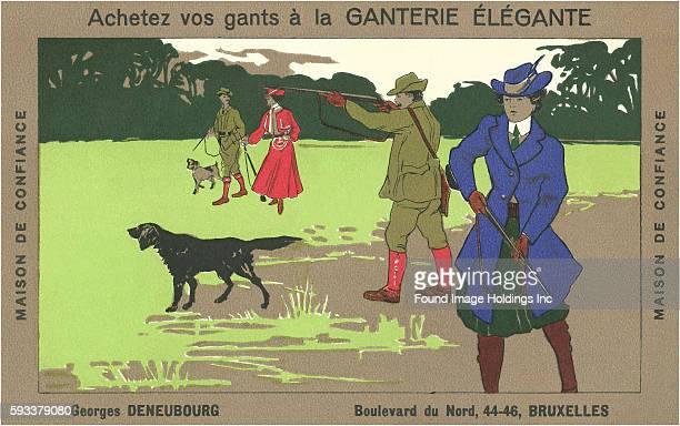 Belgian Pheasant Hunters achetez vos gants a la ganterie elegante buy your gloves maison de confiance house of confidence Georges Deneubourg Brussels