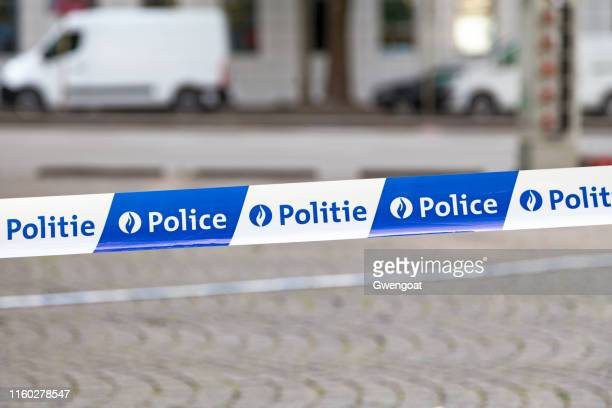 belgian police tape - police force stock pictures, royalty-free photos & images