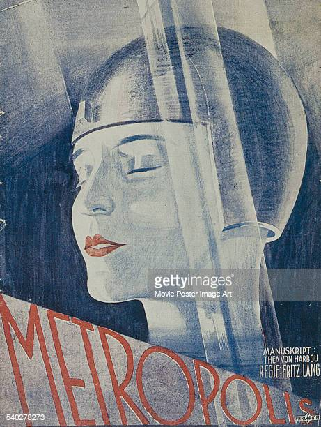 A Belgian poster for Fritz Lang's 1927 sciencefiction drama 'Metropolis' starring Brigitte Helm