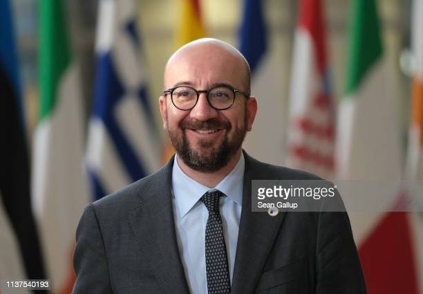 Belgian Prime Minister Charles Michel attends the second day of an EU summit on March 22 2019 in Brussels Belgium Yesterday leaders at the summit...