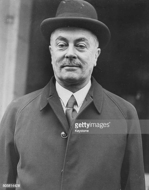 Belgian Prime Minister Hubert Pierlot pictured after arriving in London following the outbreak of World War Two, October 24th 1940.