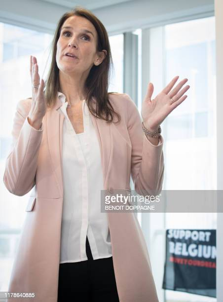 Belgian Prime Minister Sophie Wilmes pictured during the passing of the power to the new Budget Minister in Brussels Monday 28 October 2019 Wilmes...