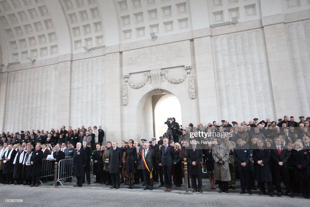 Princess Mathilde Of Belgium Attends Last Post Ceremony On Armistice Day