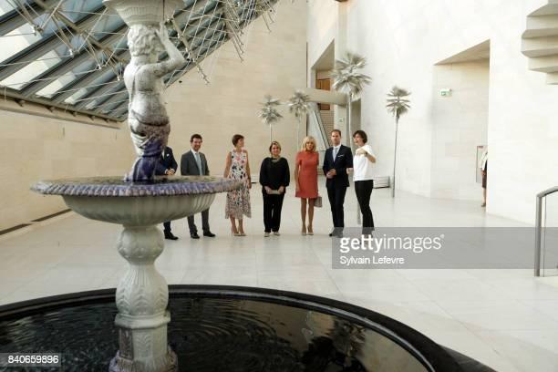 Belgian Prime Minister's partner Amelie Derbaudrenghien Grand Duchess Maria Teresa of Luxembourg Brigitte MacronTrogneux France's first lady...