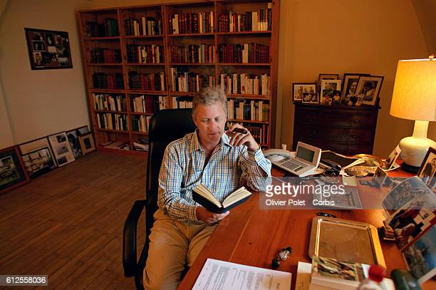 Belgian Prince Philippe in his private office at home in the Laeken Castle