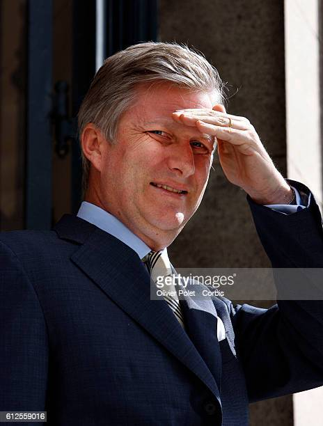 Belgian Prince Philippe pictured before a meeting at the Royals Palace in Brussels