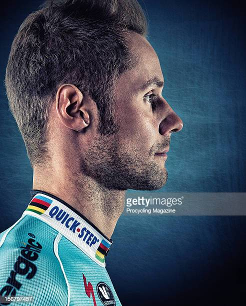 Belgian professional road race cyclist Tom Boonen, member of the Omega Pharma-QuickStep team. Photographed during a portrait shoot for Procycling...