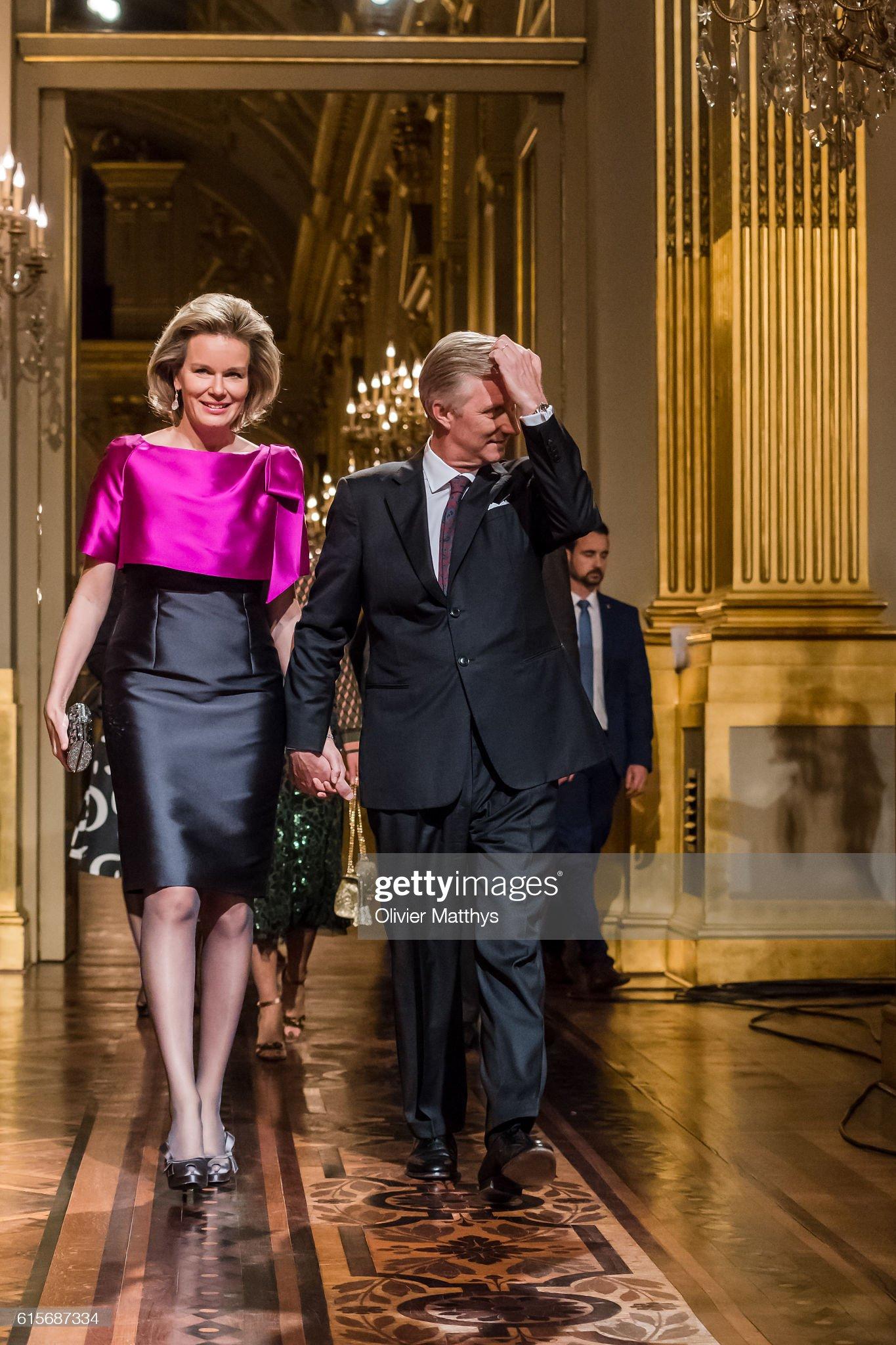 Вечерние наряды Королевы Матильды 'Autumn Concert 2016' At The Royal Palace In Brussels : News Photo