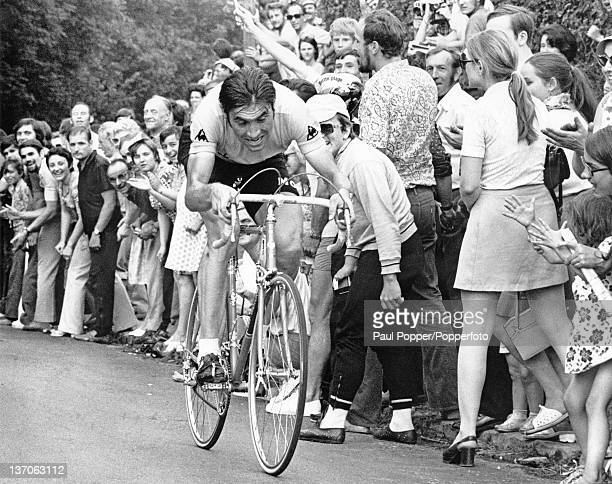Belgian racing cyclist Eddy Merckx competing in the Tour de France Versailles 23rd July 1972 Merckx went on to win the tour