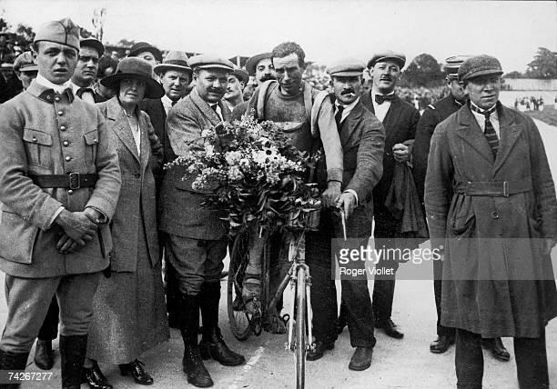 Belgian racing cyclist Firmin Lambot winner of the 1919 Tour de France 29th June 1919
