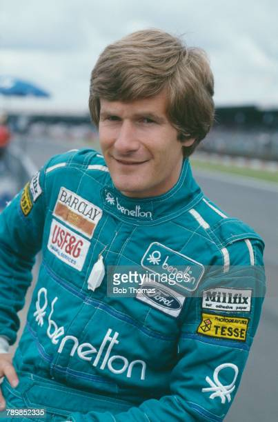 Belgian racing driver Thierry Boutsen driver of the Benetton Formula Ltd Benetton B187 Ford Cosworth GBA 15 V6t pictured prior to competing to finish...