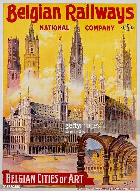 Belgian Railways Belgian Cities of Art Poster by S Rader