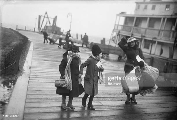 Belgian Refugees at Ellis Island