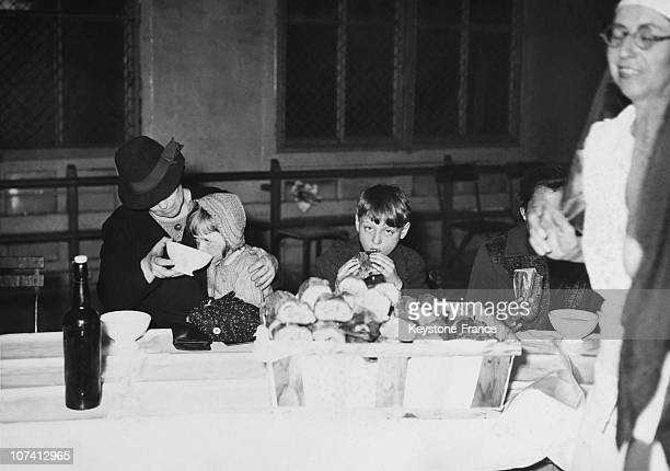 Belgian Refugees In A Reception Centre In Paris During Forties