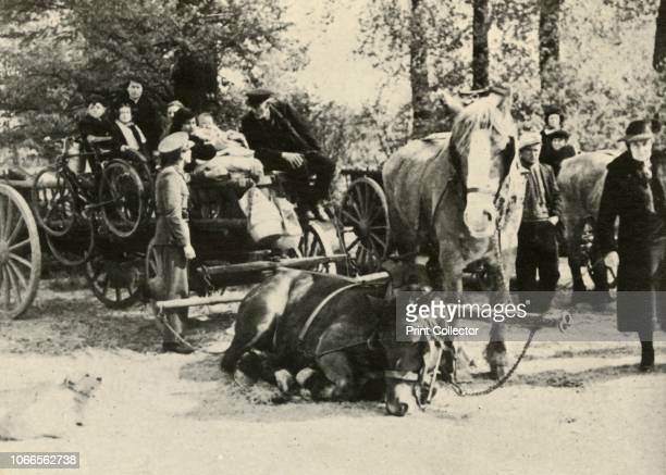 Belgian Refugees on the Road', 1939-1940, . From Fighter Pilot - A Personal Record of the Campaign in France. September 8th to June 13th, 1940. [B....