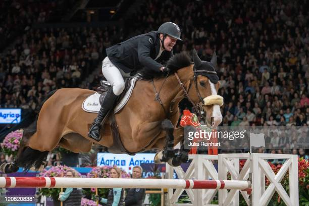 Belgian rider Jos Verlooy on Jacobien Dwerse Hagen competes in the FEI World Cup Jumping event during the Gothenburg Horse Show at Scandinavium Arena...