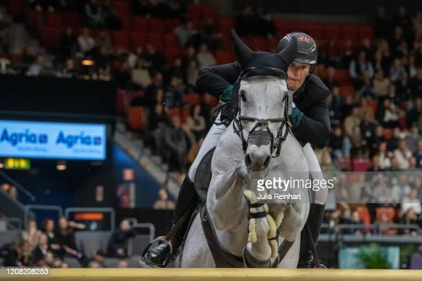 Belgian rider Olivier Philippaerts on H&M Legend of Love competes in the FEI World Cup Jumping event during the Gothenburg Horse Show at Scandinavium...