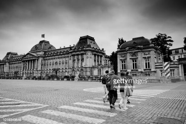 belgian royal palace in brussels - royal palace brussels stock pictures, royalty-free photos & images