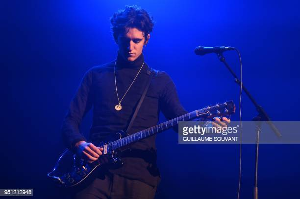 Belgian singer Amir Moharam Fouad aka Tamino performs on stage during the 42nd edition of 'Le Printemps de Bourges' rock and pop music festival in...