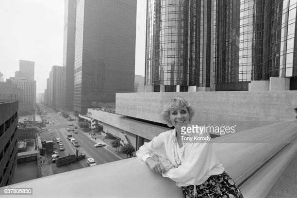 Belgian singer Annie Cordy in Los Angeles
