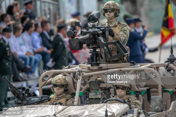 Belgian Special Forces participate in the military parade during the National Day of Belgium 2019 on July 21 2019 in Brussels Belgium