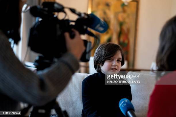 Belgian student Laurent Simons 9 years old speaks during an interview with AFP at his home on November 21 2019 in Amsterdam Laurent Simons is...