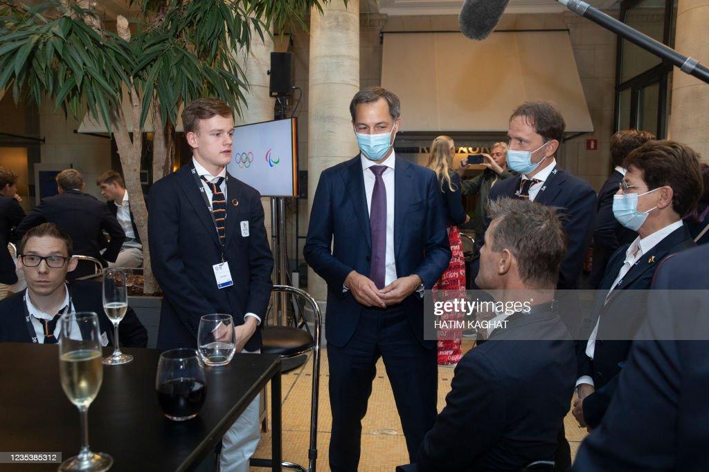 Belgian table tennis player Laurens Devos, Prime Minister ...