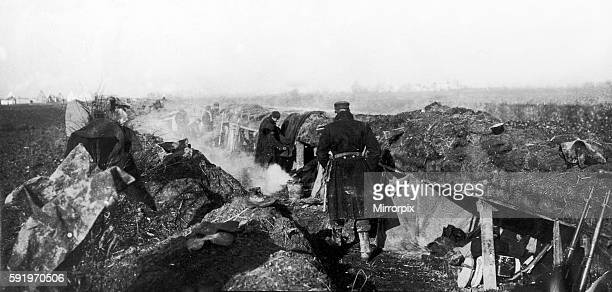 Belgian troops in the trenches on the Yser prior to the Second Battle of Ypres 1st February 1915 Western Front Second Battle of Ypres begins First...