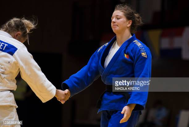 Belgian Vicky Verschaere pictured in a fight of the women -78kg category at the European Judo Open in Sarajevo, Bosnia and Herzegovina, Sunday 19...