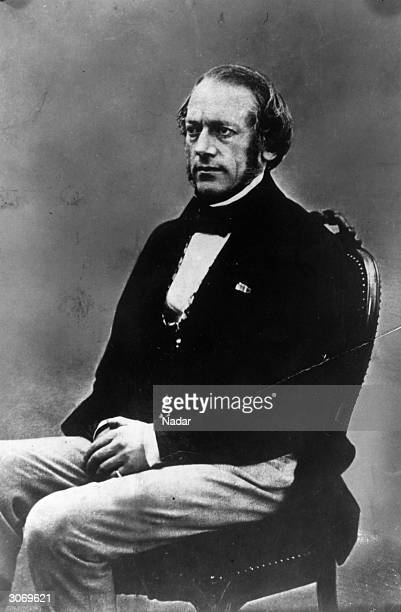 Belgian violinist and composer CharlesAuguste de Bériot circa 1860
