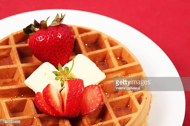 Belgian Waffle with strawberries