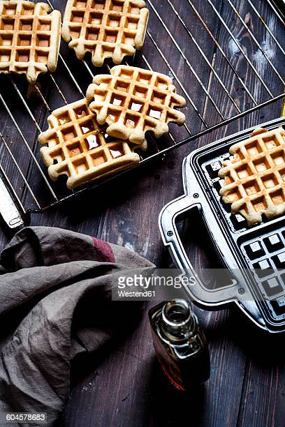 Belgian waffles with maple sirup