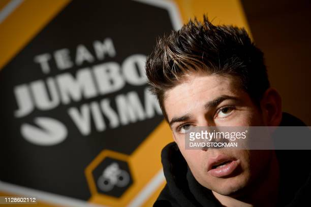 Belgian Wout Van Aert of Team Jumbo-Visma pictured during the press conference of Dutch cycling team Jumbo-Visma ahead of the 74th edition of the...