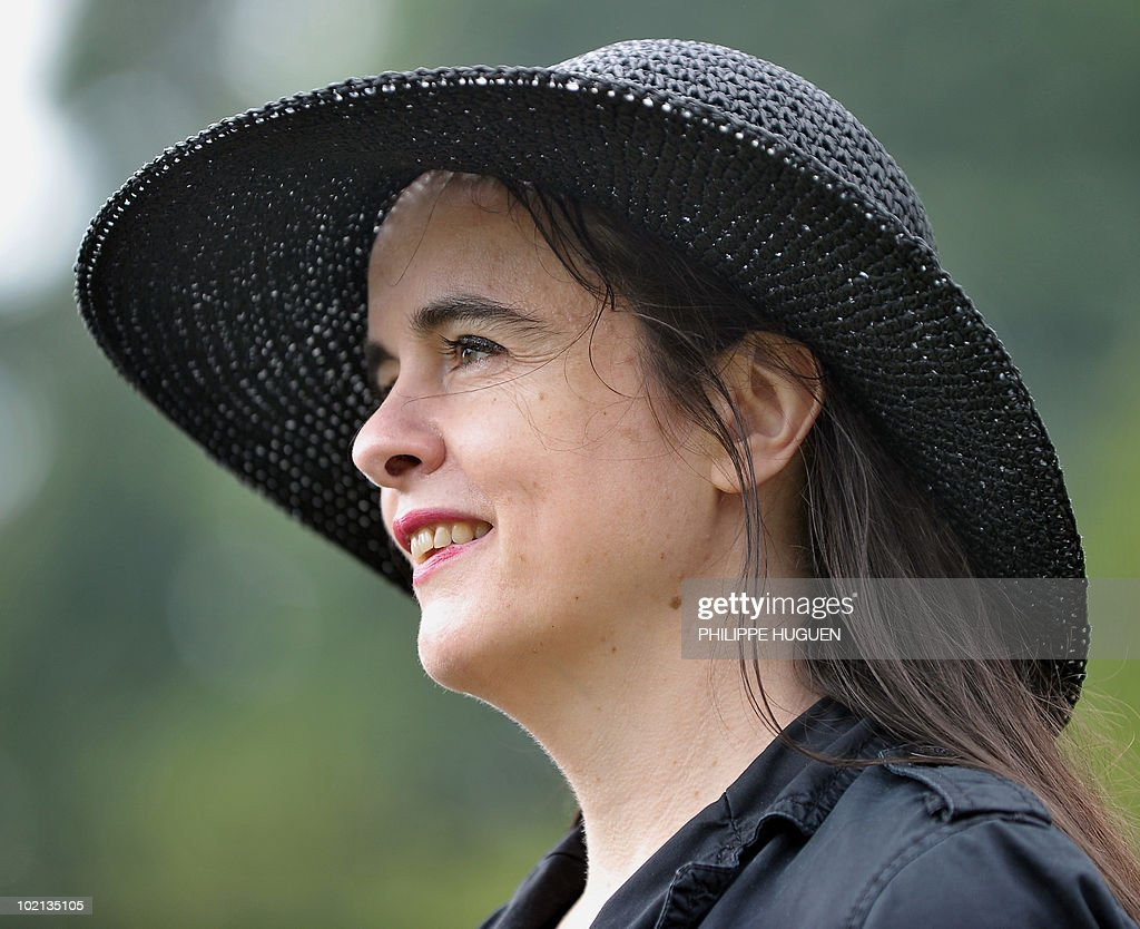 Belgian writer Amelie Nothomb attends the 12th Literature Festival 'Par Monts Et Par Mots' on June 6, 2010 in Saint-Jans-Cappel, northern France.
