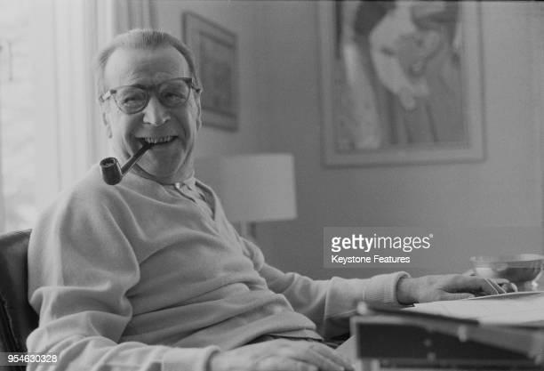 Belgian writer Georges Simenon at his home in Zurich, Switzerland, November 1972.