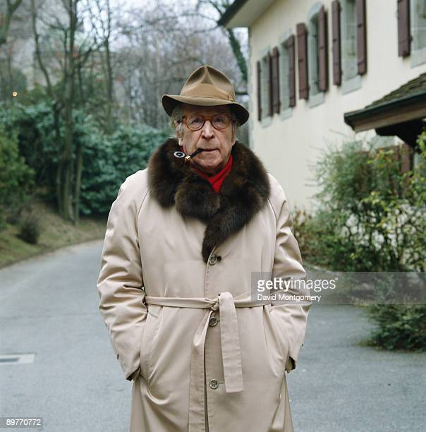 Belgian writer Georges Simenon , May 1984.