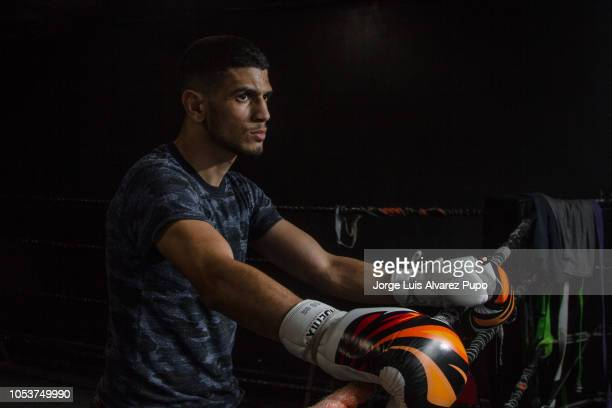 Belgian Youssef Boughanem during a training session for the WBC Muay Thai 72kg title defense vs Kongjak Por Paoin of Thailand at the XTC training...