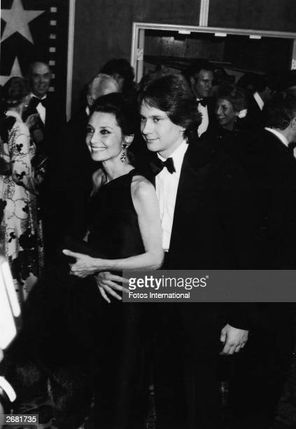 Belgianborn actor Audrey Hepburn and her son Sean Ferrer attend an AFI tribute to Fred Astaire Los Angeles California April 18 1981