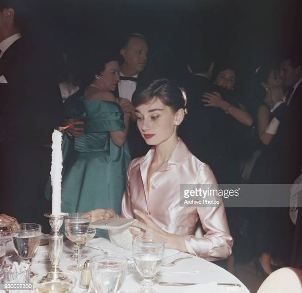 Belgianborn actress Audrey Hepburn at the Lido nightclub in Paris circa 19th December 1955