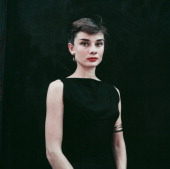 Belgianborn actress audrey hepburn in a black sleeveless dress circa picture id107371847?s=170x170