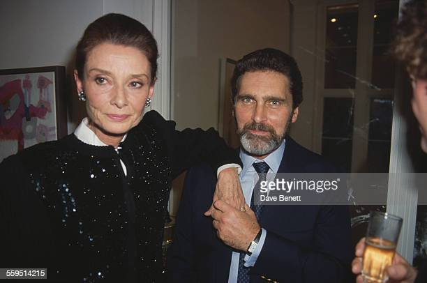 Belgianborn actress Audrey Hepburn with her husband Dutch television actor Robert Wolders circa 1990