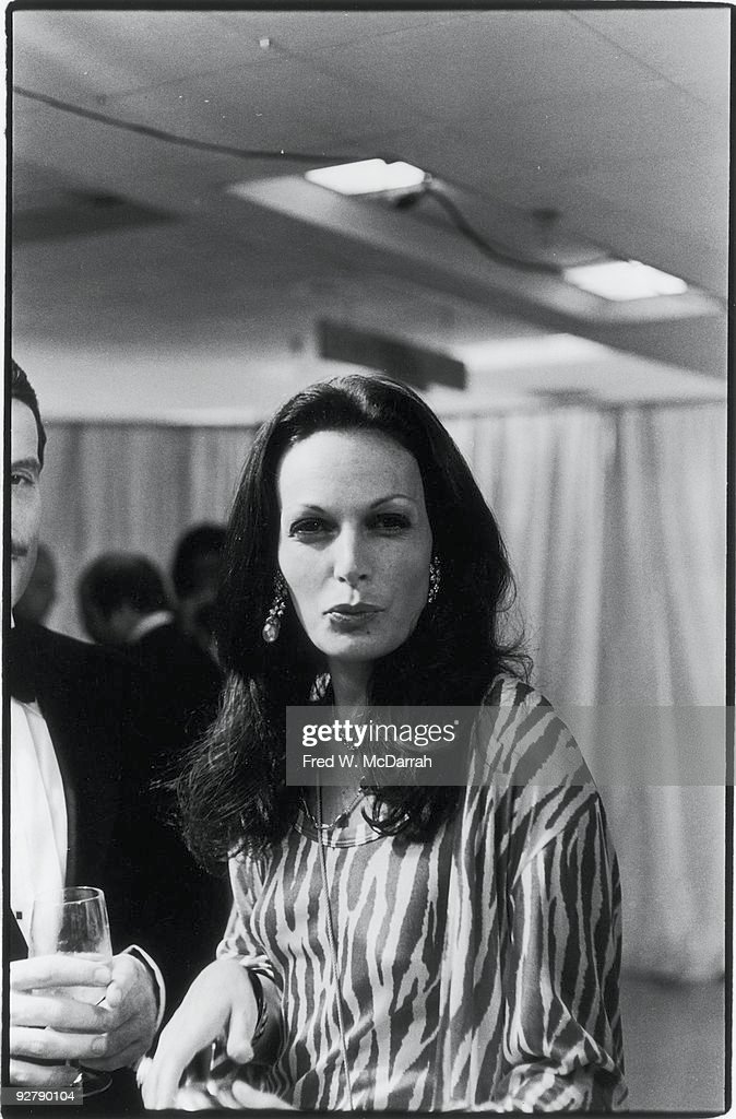 Belgian-born American fashion designer Diane von Furstenberg attends a Valentino benefit show for the Special Olympics, New York, New York, June 7, 1976.