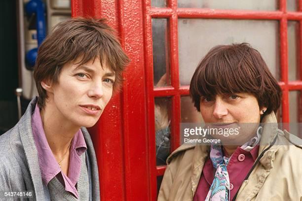 Belgianborn director Agnès Varda and actress and singer Jane Birkin on the set of her film 'Jane B par Agnès V'
