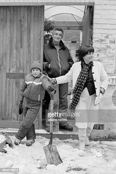 Belgianborn French director screenwriter and producer Agnes Varda with her husband French director screenwriter and producer Jacques Demy and their...