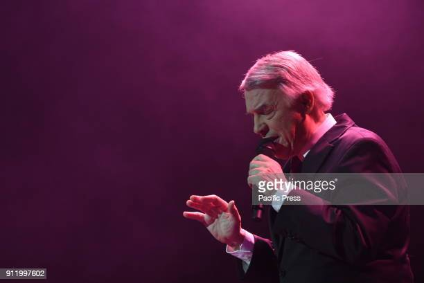 BelgianItalian singer Salvatore Adamo during his concert at Nuevo Apolo theater