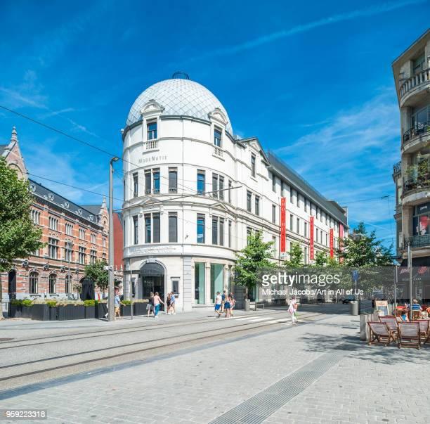 Belgium, Antwerp - 5 August 2015: Modemuseum van de provincie Antwerpen - fashion museum in the Nationalestraat