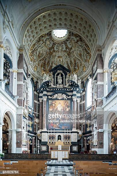 Belgium Antwerp interior of the St Carolus Borromeus church